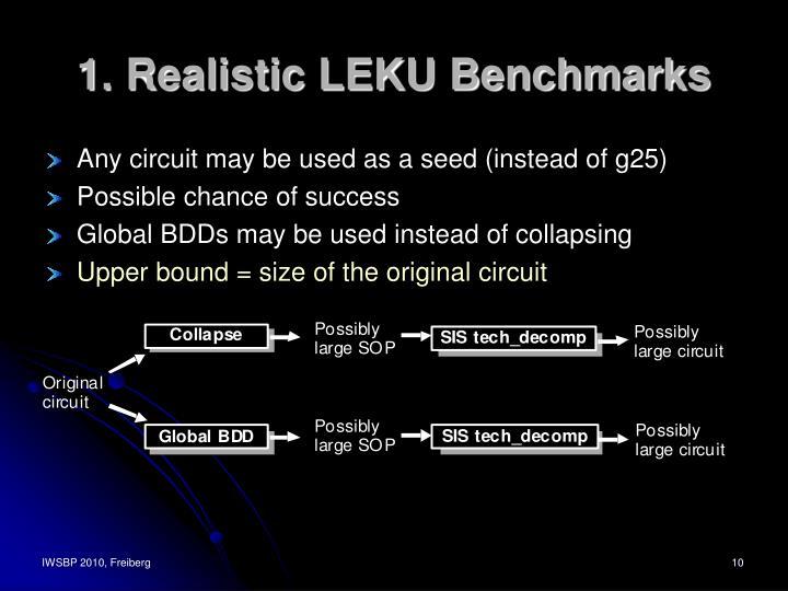 1. Realistic LEKU Benchmarks