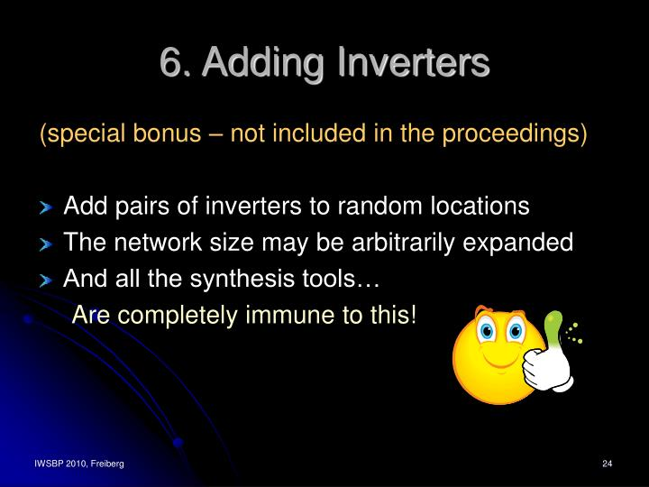 6. Adding Inverters