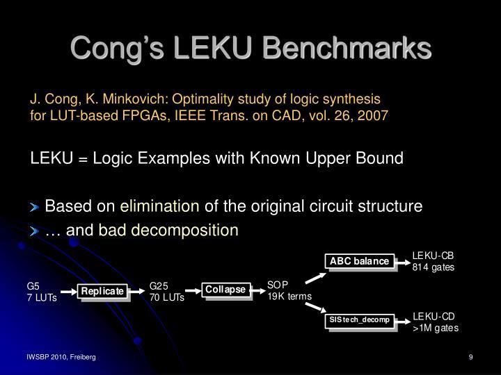 Cong's LEKU Benchmarks