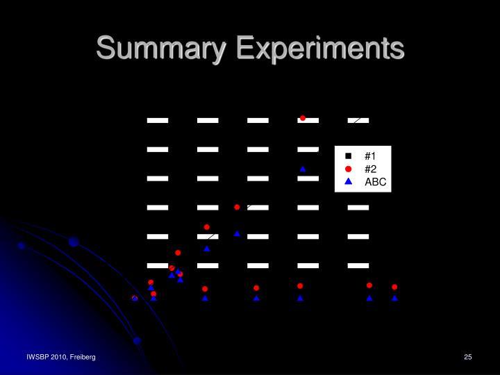Summary Experiments