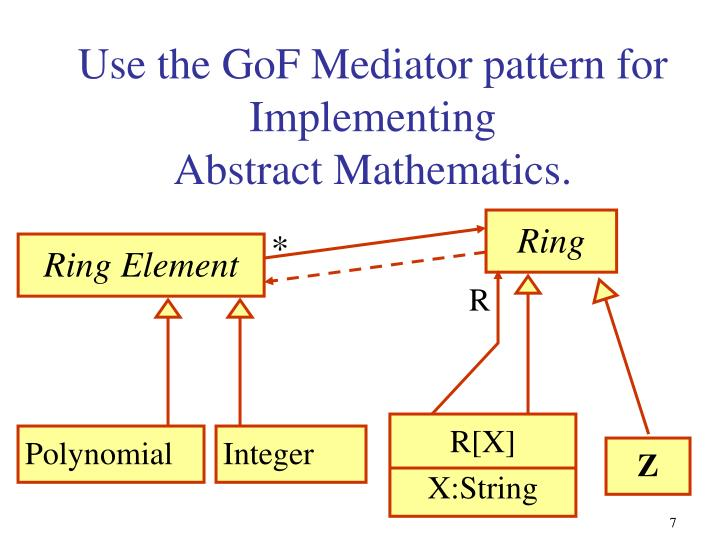 Use the GoF Mediator pattern for Implementing