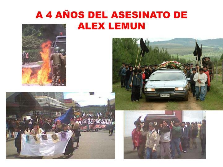 A 4 AÑOS DEL ASESINATO DE