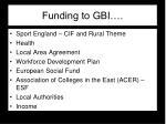 funding to gbi