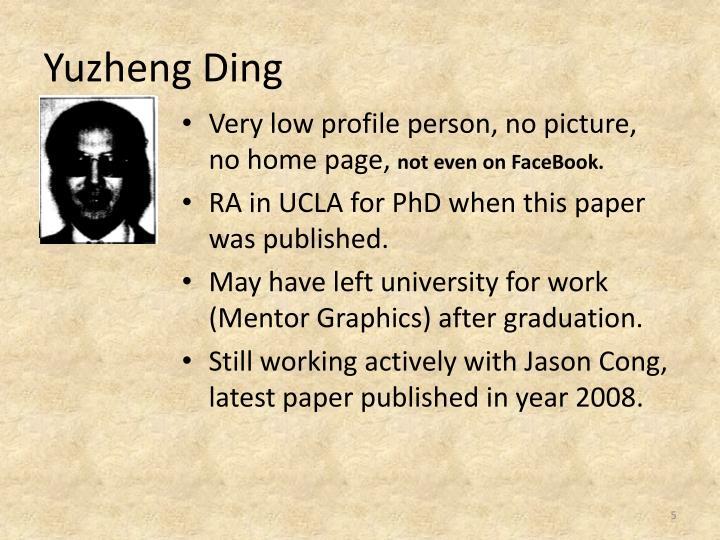 Yuzheng Ding