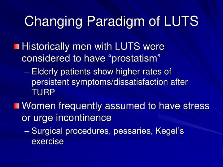 Changing Paradigm of LUTS