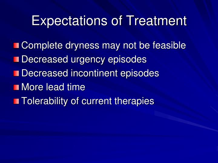 Expectations of Treatment
