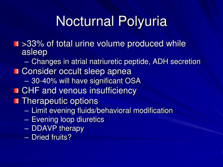 Nocturnal Polyuria