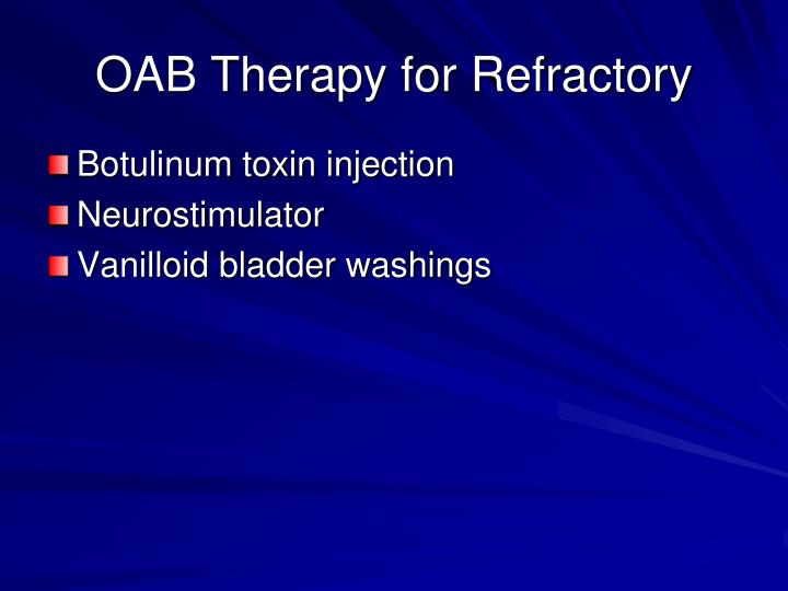 OAB Therapy for Refractory