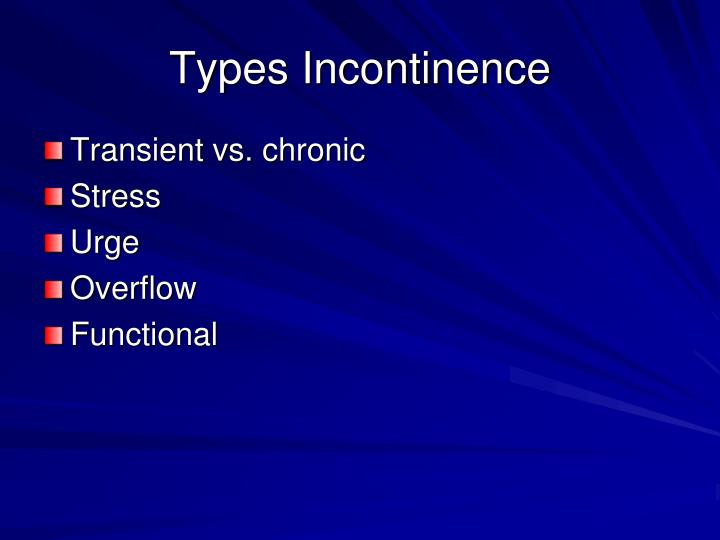 Types Incontinence