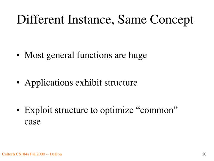 Different Instance, Same Concept