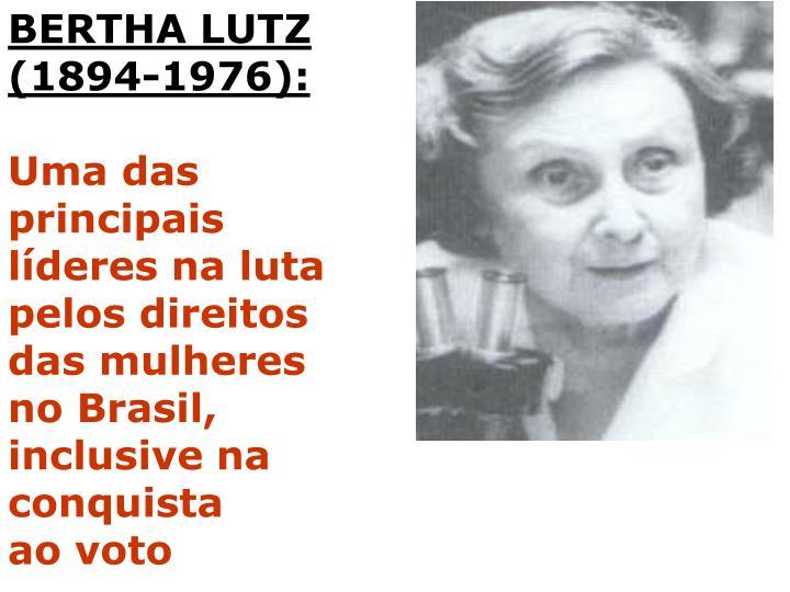 BERTHA LUTZ