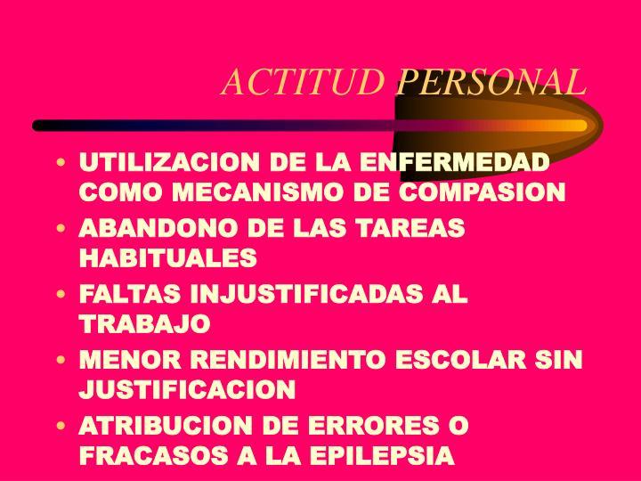 ACTITUD PERSONAL