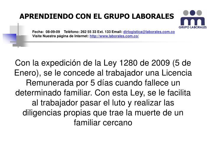 APRENDIENDO CON EL GRUPO LABORALES