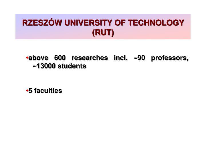 RZESZÓW UNIVERSITY OF TECHNOLOGY (RUT)