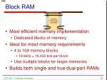 block ram