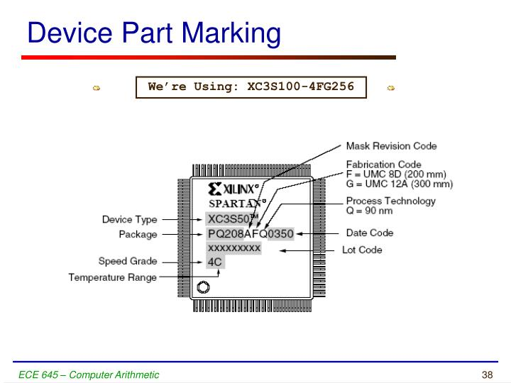 Device Part Marking