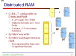 distributed ram