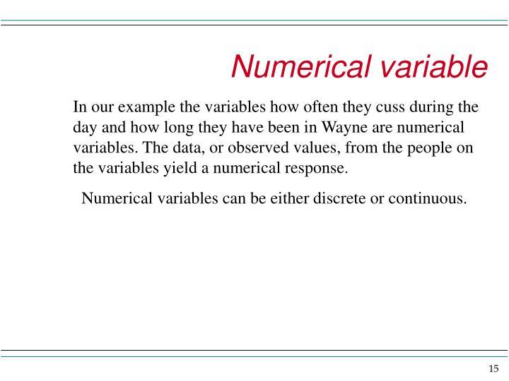 Numerical variable