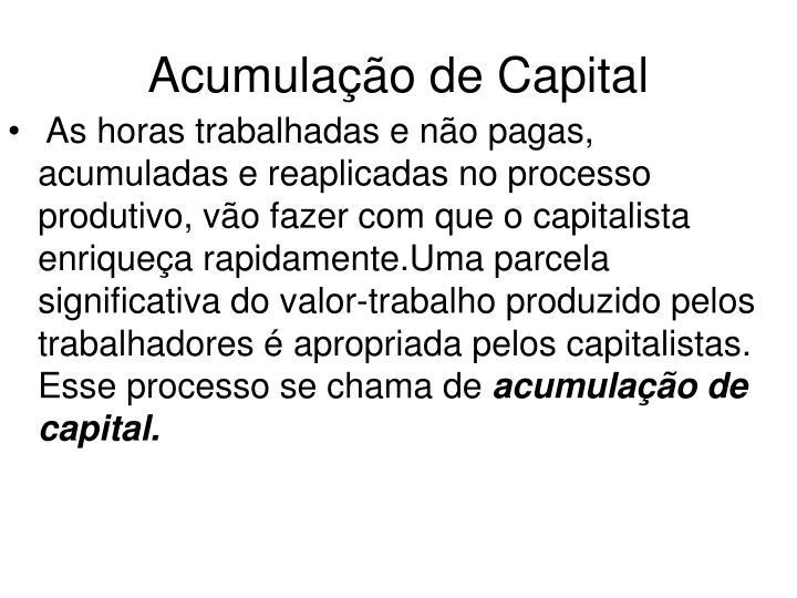 Acumulação de Capital