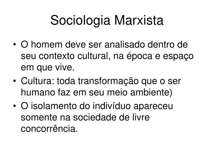 Sociologia Marxista