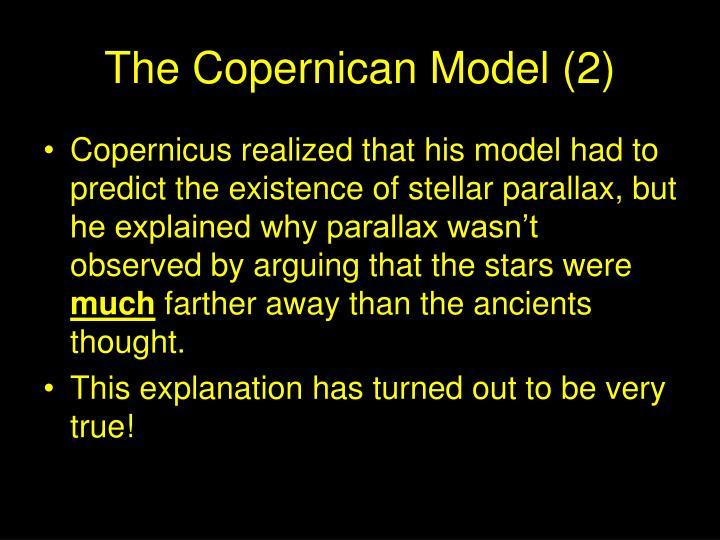 The Copernican Model (2)