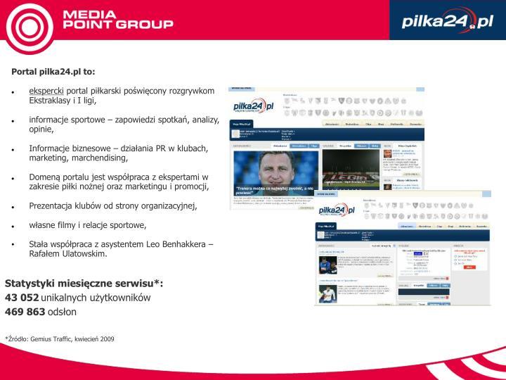 Portal pilka24.pl to