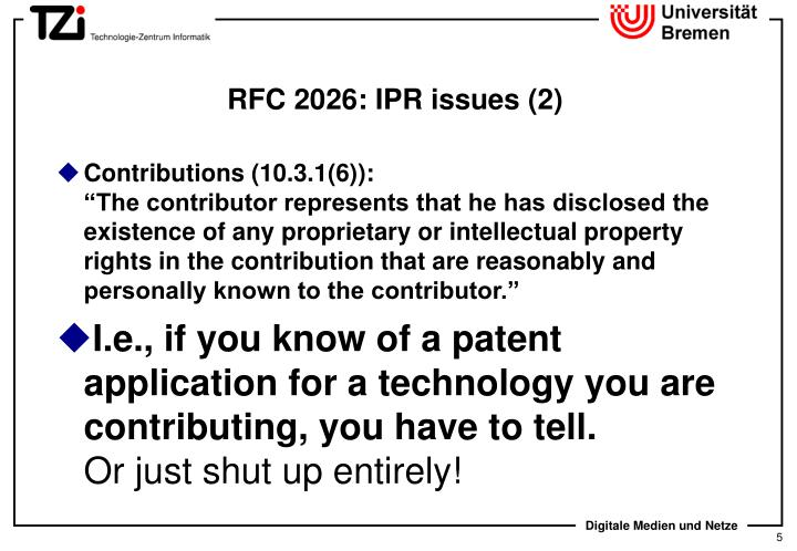 RFC 2026: IPR issues (2)