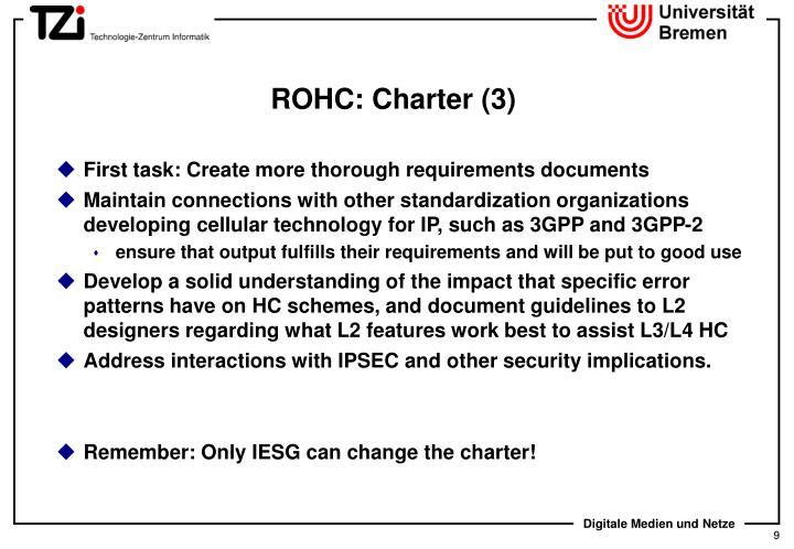 ROHC: Charter (3)