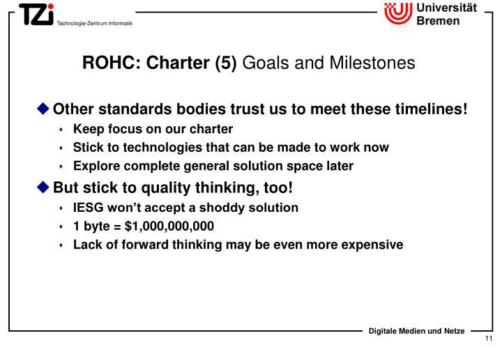 ROHC: Charter (5)