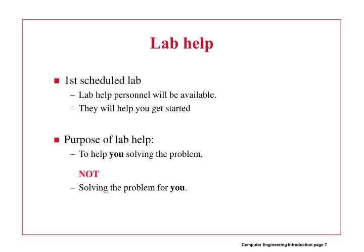 Lab help