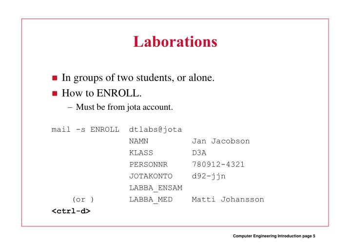 Laborations