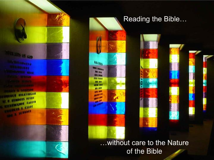 Reading the Bible…