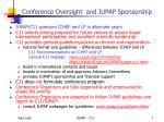 conference oversight and iupap sponsorship