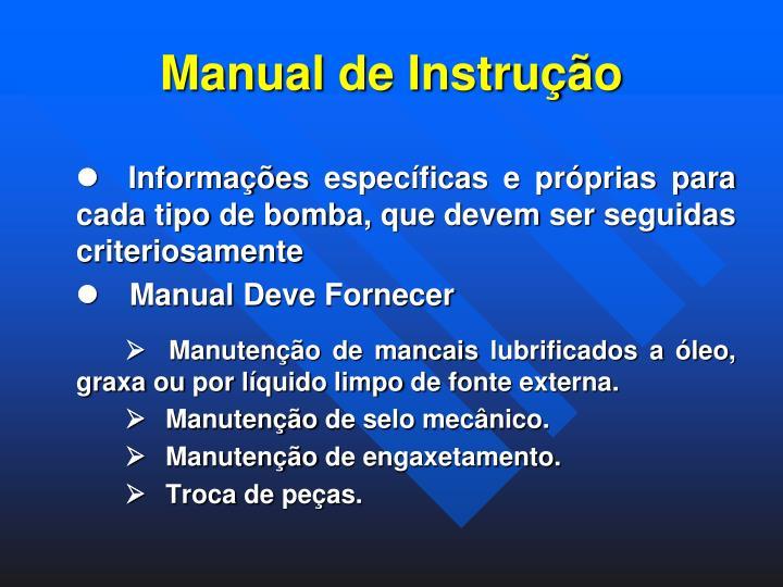 Manual de Instrução