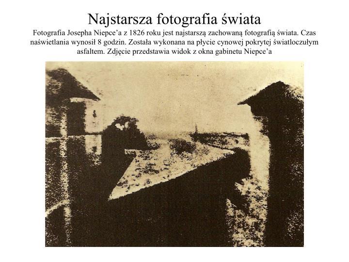 Najstarsza fotografia świata