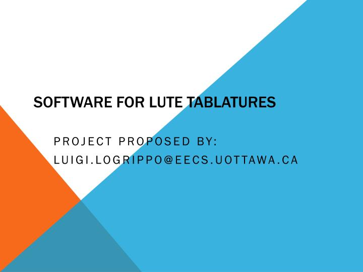 Software for lute tablatures