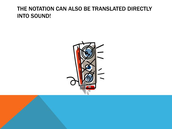 the notation can also be translated directly into sound!
