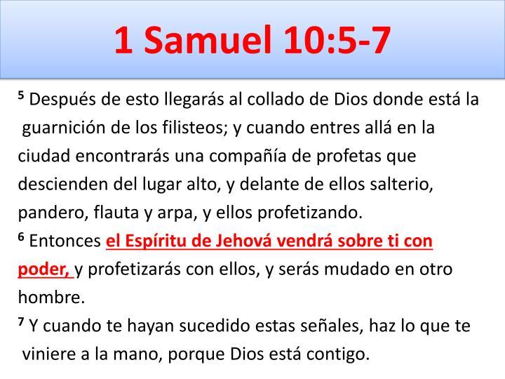 1 Samuel 10:5-7