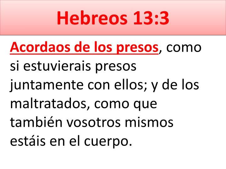 Hebreos 13:3