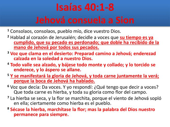 Isaías 40:1-8