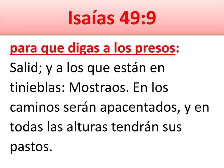 Isaías 49:9
