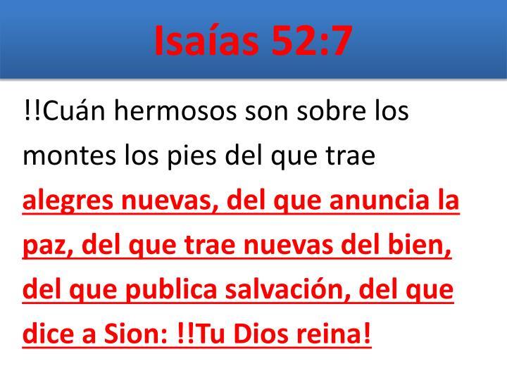Isaías 52:7