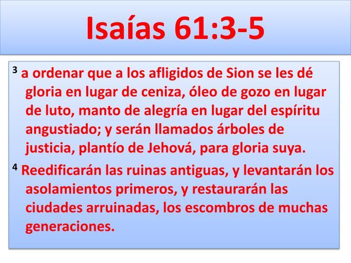 Isaías 61:3-5