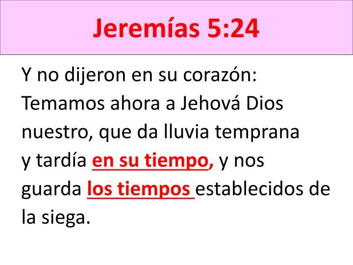 Jeremías 5:24