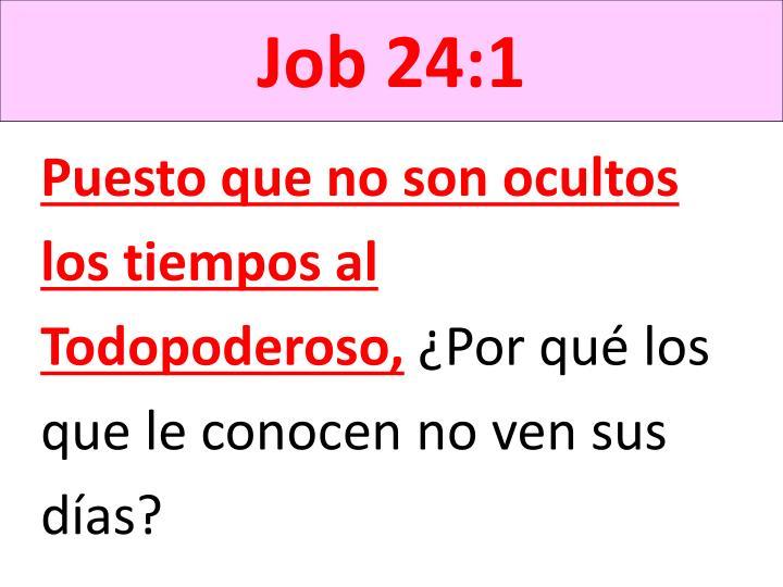 Job 24:1