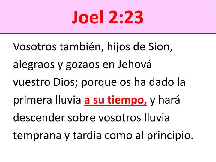 Joel 2:23