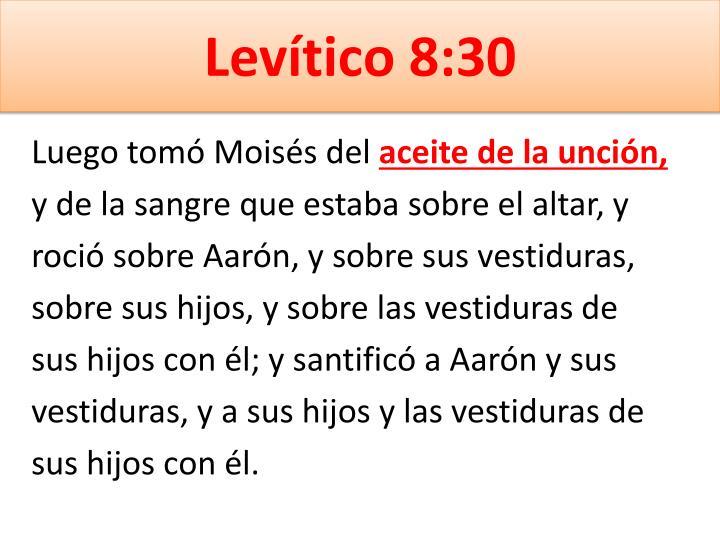 Levítico 8:30