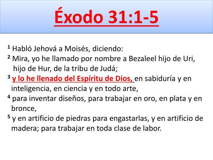 Éxodo 31:1-5
