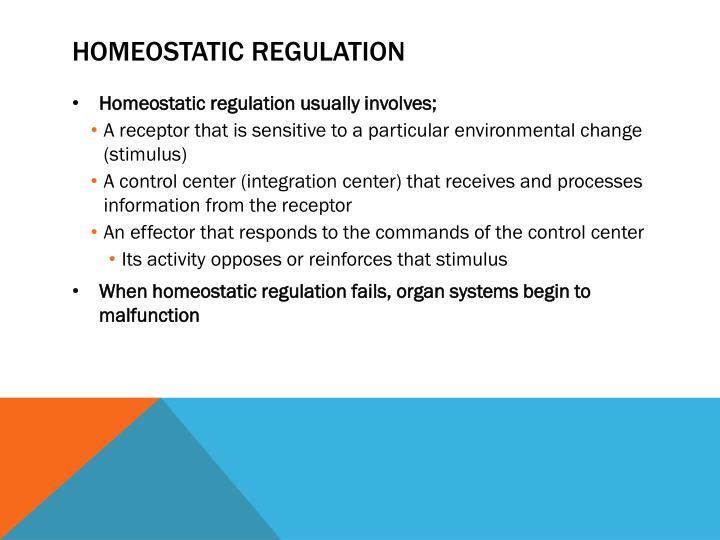 Homeostatic regulation