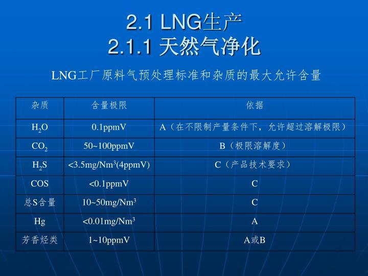 2.1 LNG